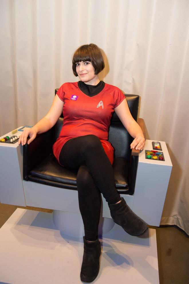 Demetria in chair